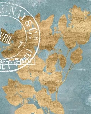 Postage Leaves II Digital Print by Goldberger, Jennifer,Decorative