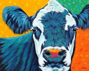 Colorful Country Cows I Digital Print by Vitaletti, Carolee,Decorative