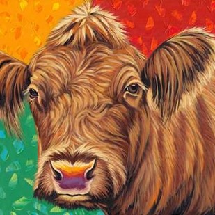 Colorful Country Cows II Digital Print by Vitaletti, Carolee,Decorative
