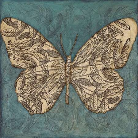 Collage Butterfly I By Artist Meagher Megan Decorative