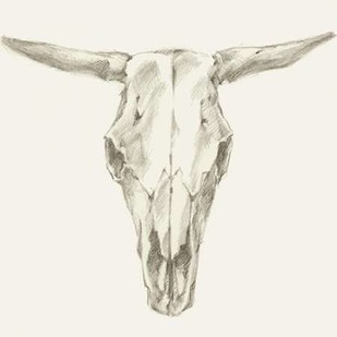 Western Skull Mount II Digital Print by Harper, Ethan,Decorative