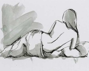 Draped Nude II Digital Print by Harper, Ethan,Expressionism, Illustration