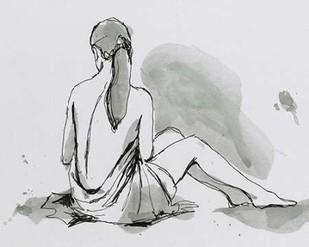 Draped Nude III Digital Print by Harper, Ethan,Expressionism, Illustration