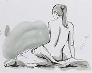 Draped Nude IV Digital Print by Harper, Ethan,Illustration, Impressionism