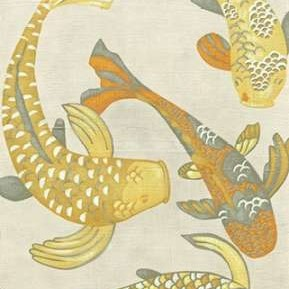 Golden Koi I Digital Print by Zarris, Chariklia,Decorative