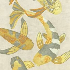 Golden Koi II Digital Print by Zarris, Chariklia,Decorative