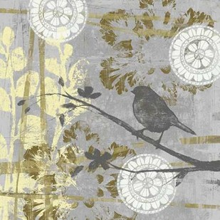 Serene Bird & Branch I Digital Print by Goldberger, Jennifer,Decorative