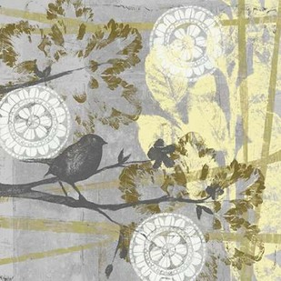 Serene Bird & Branch II Digital Print by Goldberger, Jennifer,Decorative