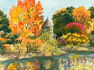 Plein Air Garden II Digital Print by Miller, Dianne,Impressionism