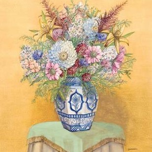 Bouquet in Asian Vase I Digital Print by Russell, Wendy,Impressionism