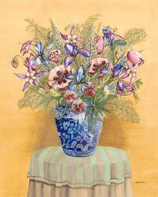 Bouquet in Asian Vase II Digital Print by Russell, Wendy,Impressionism