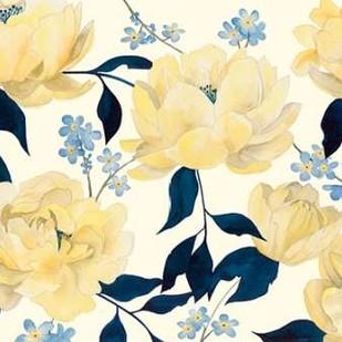 Fleurs D'or et Bleu I Digital Print by Popp, Grace,Impressionism
