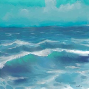 Ocean Waves II Digital Print by Novak, Rick,Impressionism