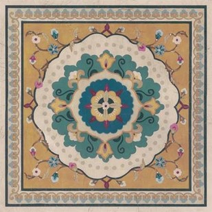 Floral Bazaar Tile I Digital Print by Vess, June Erica,Decorative