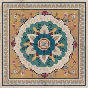 Floral Bazaar Tile IV Digital Print by Vess, June Erica,Decorative