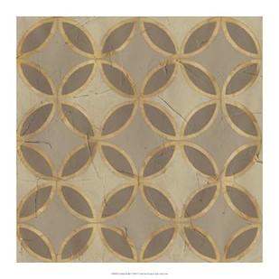 Golden Trellis V Digital Print by Vess, June,Decorative