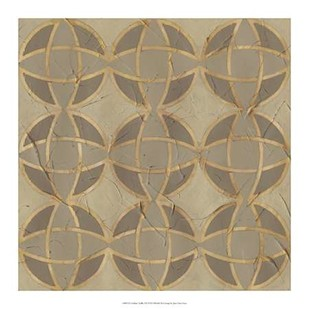 Golden Trellis VII Digital Print by Vess, June,Decorative