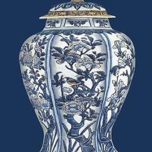 Blue & White Porcelain Vase I Digital Print by Vision Studio,Decorative