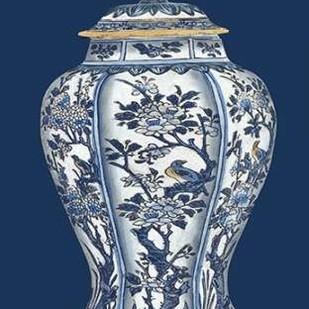 Blue & White Porcelain Vase II Digital Print by Vision Studio,Decorative