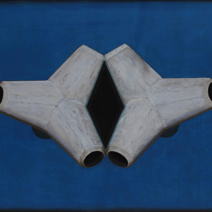 Mutation by Narendra Thakare, Minimalism Painting, Acrylic on Canvas, Blue color