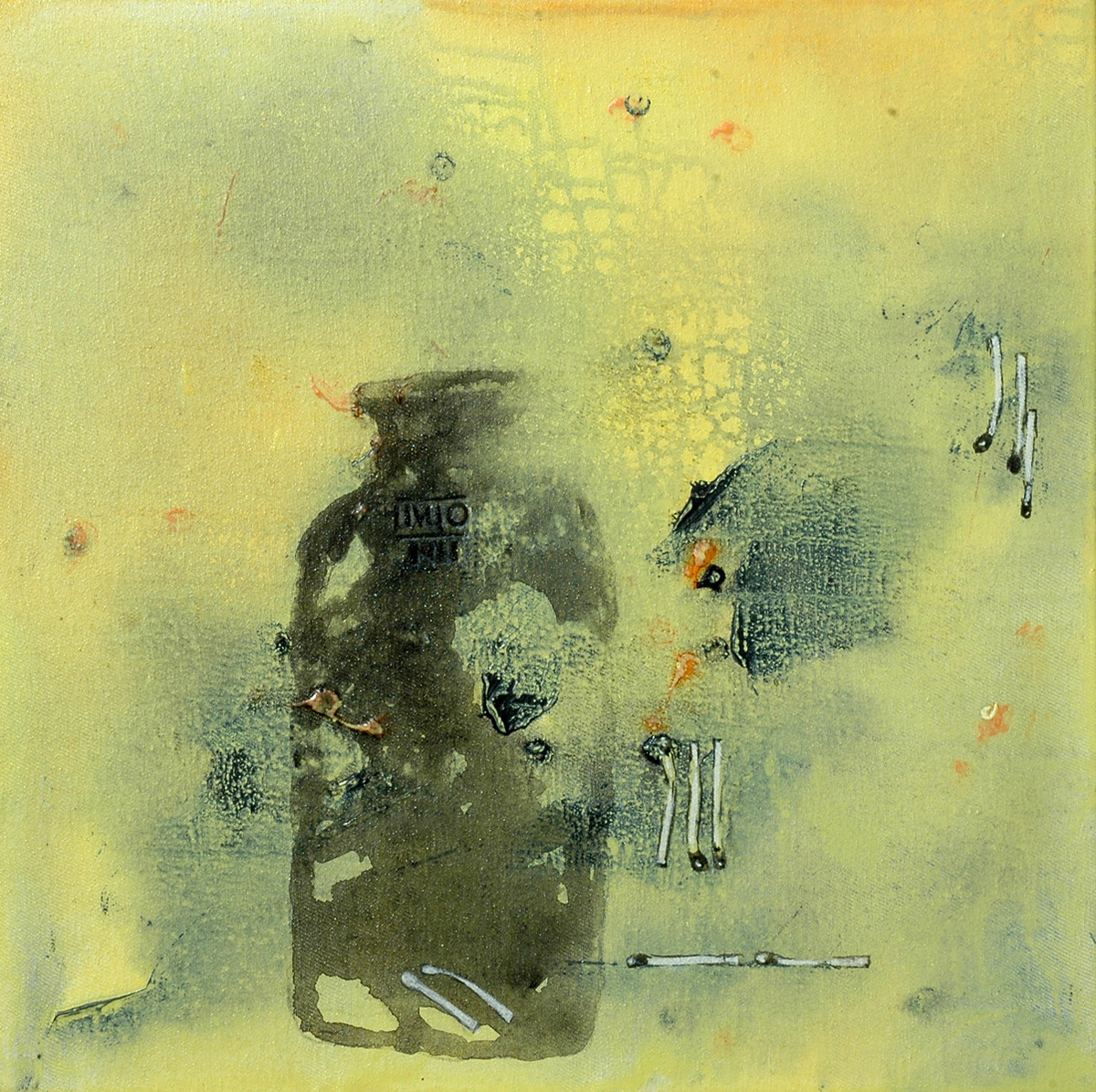 Untitled 1141 by Arvind Patel, Minimalism Painting, Acrylic on Canvas, Beige color