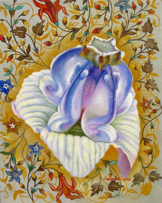 Untitled 2 by Debarati Roy Saha, Decorative Painting, Oil on Canvas,
