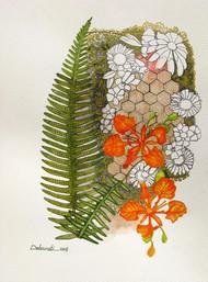 Untitled 10 by Debarati Roy Saha, Decorative Painting, Mixed Media on Paper,