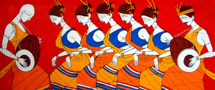 Tribal Dance Print By Jiaur Rahman