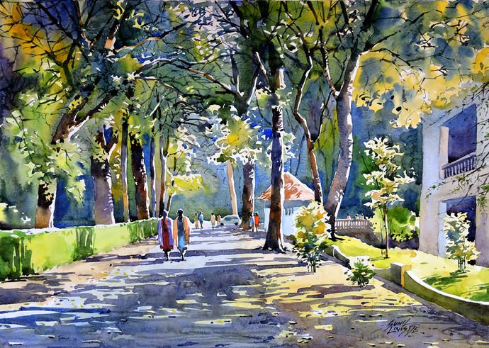 Good Evening By Artist Sunil Linus De Impressionism