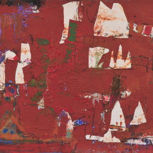 Untitled by John Tun Sein, Abstract Painting, Mixed Media on Paper, Brown color