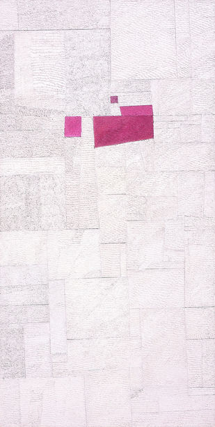 Untitled by Santana Gohain, Abstract Painting, Mixed Media on Board, Gray color