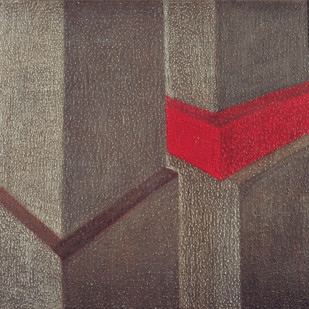 Untitled by Pooja Iranna, Geometrical Painting, Acrylic on Canvas, Brown color