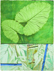 Untitled 1 by Dattatraya Apte, Abstract Painting, Mixed Media on Paper, Green color