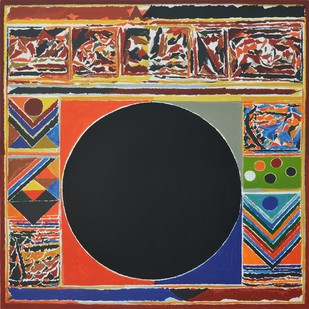 Bharat Bhoomi by S H Raza, Geometrical Serigraph, Serigraph on Paper, Brown color