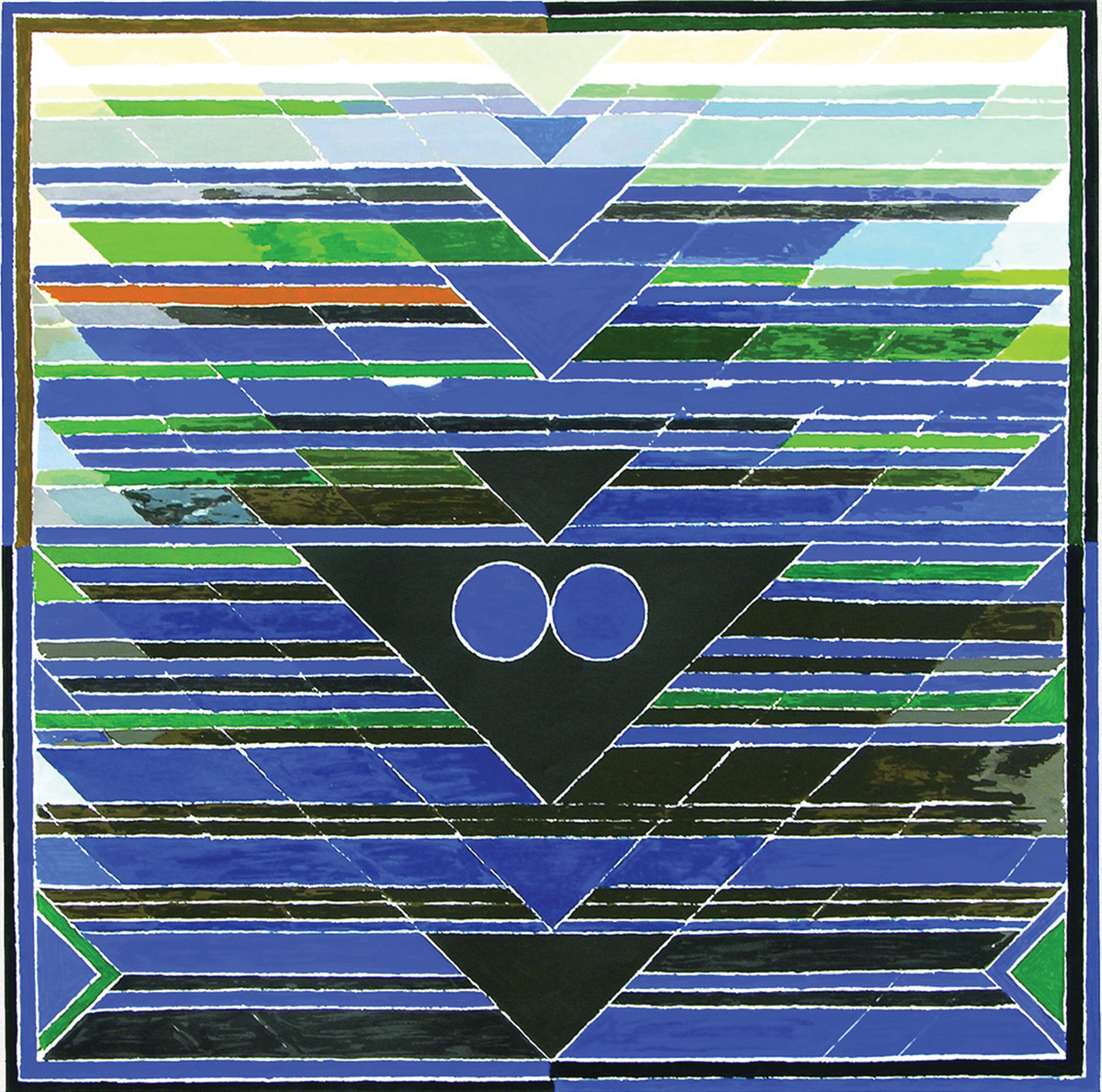 Aavartan by S H Raza, Geometrical Serigraph, Serigraph on Paper, Blue color