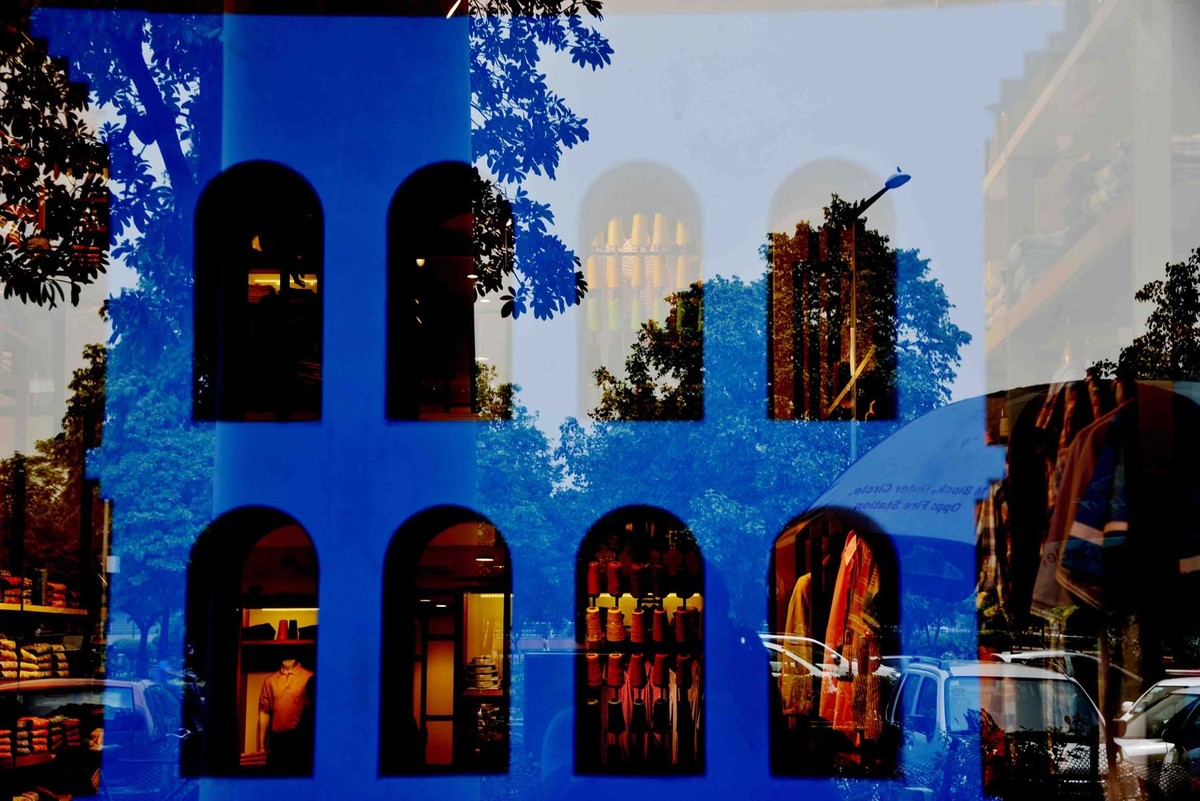 Untitled 02 by Sandeep Biswas, Digital Photography, Digital Print on Archival Paper, Blue color