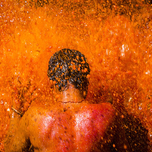 Spirit Of Color by Udit Kulshrestha, Image Photography, Digital Print on Archival Paper, Orange color