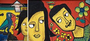 Graphein - Ch III - A Courtship by Udit Kulshrestha, Image Digital Art, Digital Print on Archival Paper, Brown color