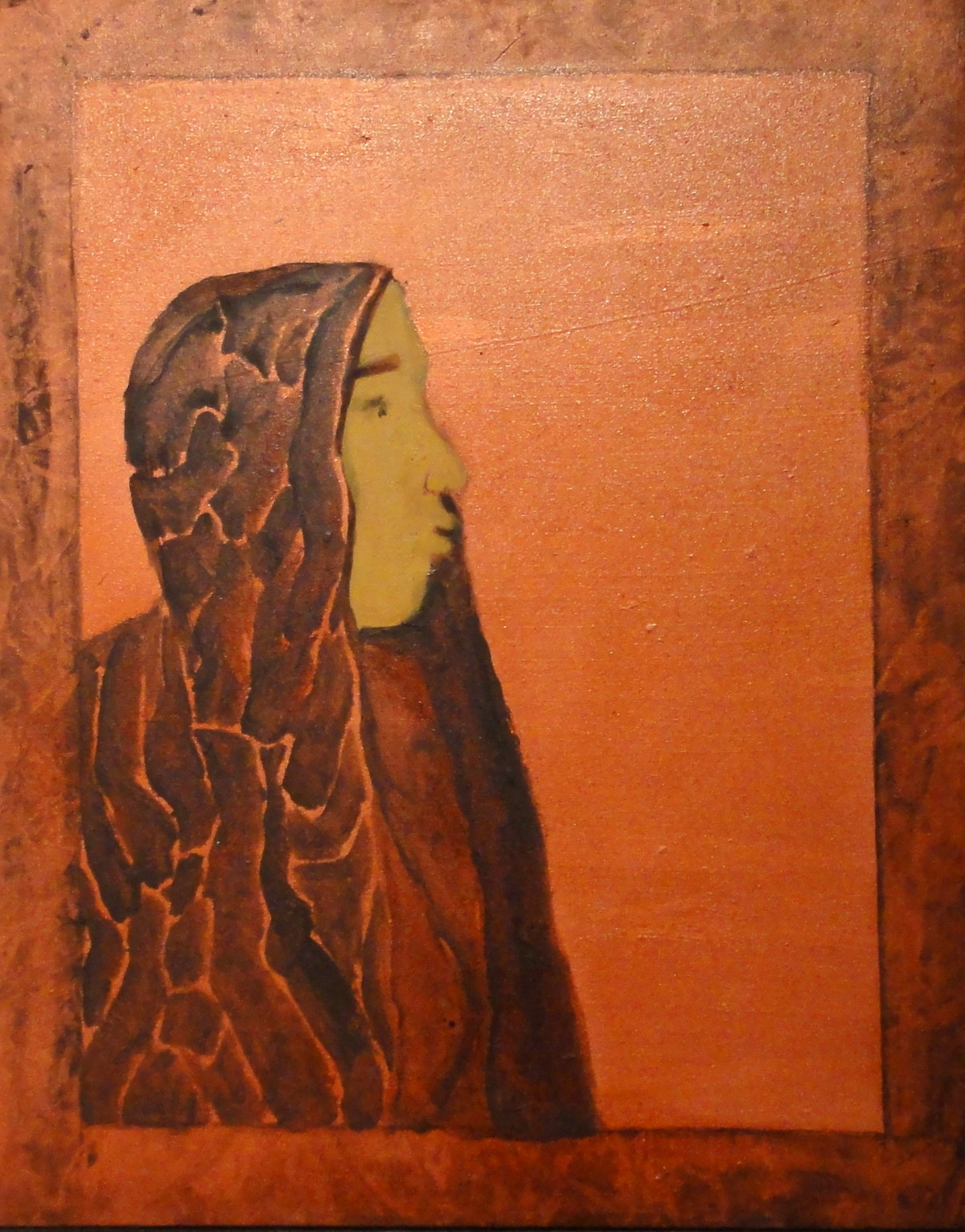 Untitled by Shamshad Hussain, Impressionism Painting, Oil on Canvas, Brown color