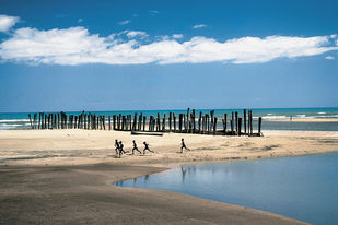 Coasts Of India 26 by Ashwin Mehta, Image Photography, Digital Print on Paper, Blue color