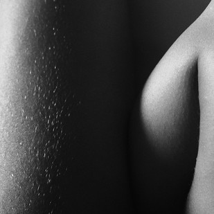 Nude 38 by Ashwin Mehta, Image Photography, Digital Print on Paper, Gray color