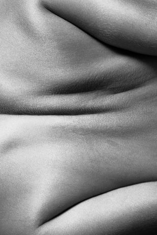 Nude 39 by Ashwin Mehta, Image Photography, Digital Print on Paper, Gray color