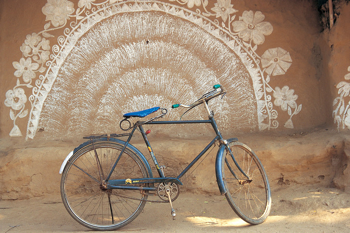 Bicycle 42 by Ashwin Mehta, Image Photography, Digital Print on Paper, Beige color