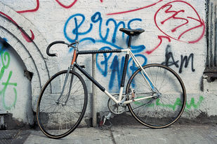 Bicycle 43 by Ashwin Mehta, Image Photography, Digital Print on Paper, Gray color