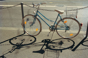 Bicycle 45 by Ashwin Mehta, Image Photography, Digital Print on Paper, Brown color