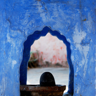 Window to the Gods by Ajay Rajgarhia, Image Photography, Digital Print on Archival Paper, Blue color