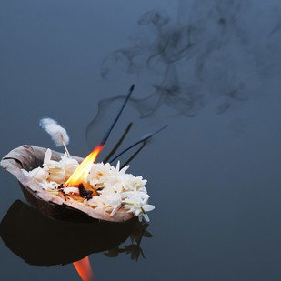 Hope Floats by Ajay Rajgarhia, Image Photography, Digital Print on Archival Paper, Blue color
