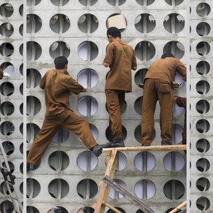 Men At Work by Ajay Rajgarhia, Image Photography, Digital Print on Archival Paper, Gray color