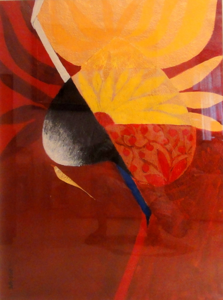 Untitled by Narendra Pal Singh, Decorative Painting, Acrylic on Paper, Brown color