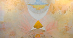 Untitled by Narendra Pal Singh, Decorative Painting, Acrylic on Canvas, Beige color